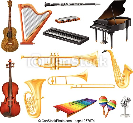 Different types of musical instruments - csp41287674