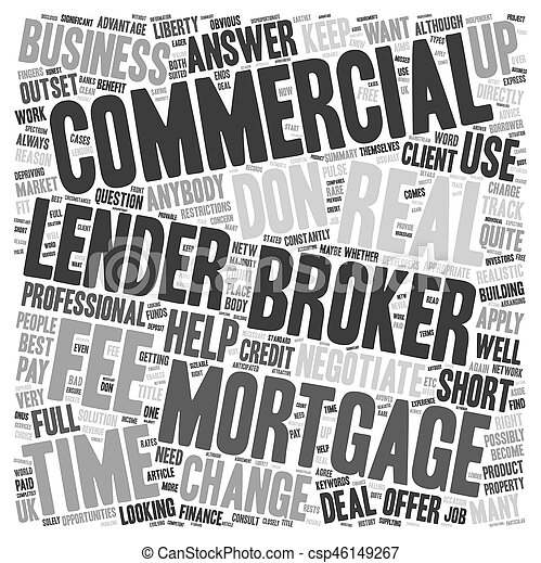 Do I Have To Use A Commercial Mortgage Broker text background wordcloud concept - csp46149267