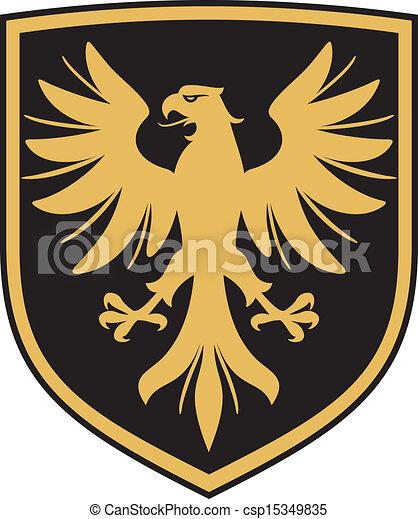 eagle (coat of arms, emblem) - csp15349835