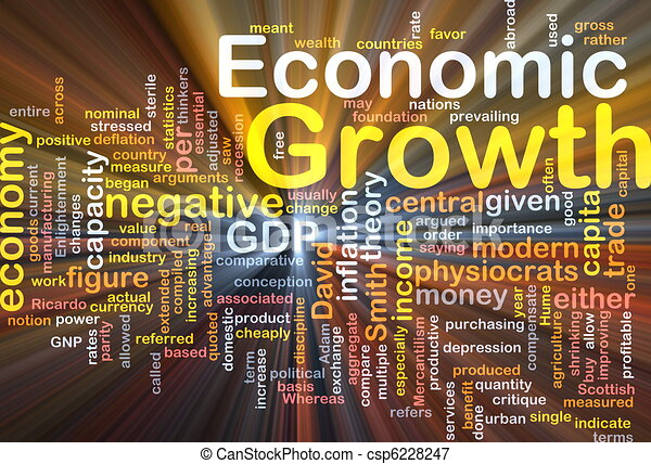Economic growth background concept glowing - csp6228247