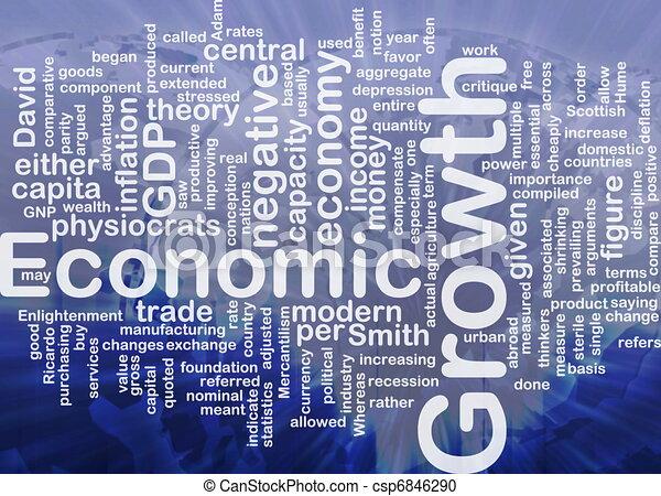 Economic growth is bone background concept - csp6846290
