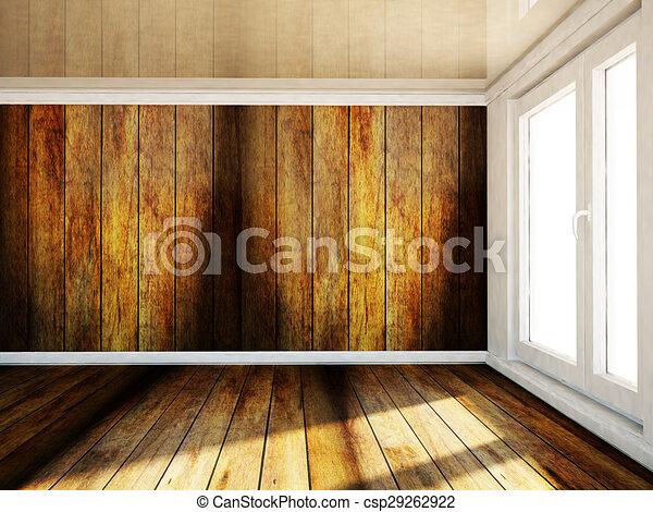 empty room with a big window - csp29262922