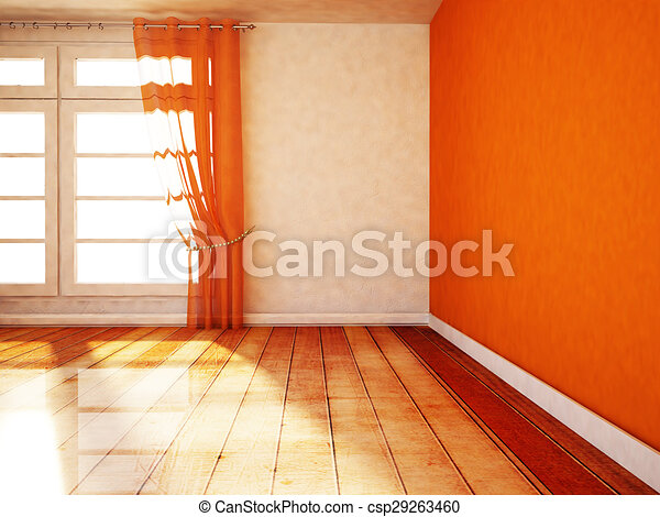 empty room with a window - csp29263460