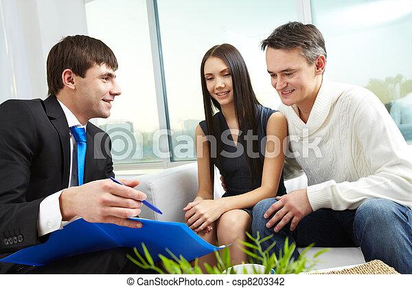 Explaining mortgage conditions - csp8203342