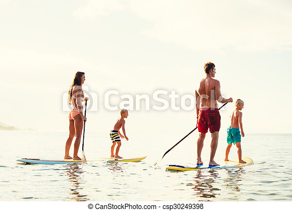 Family Fun, Stand Up Paddling - csp30249398
