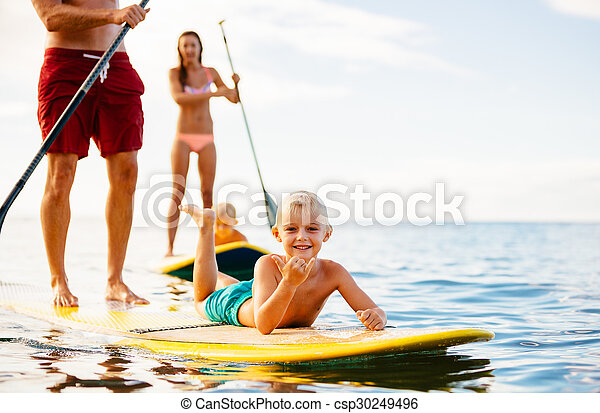 Family Fun, Stand Up Paddling - csp30249496