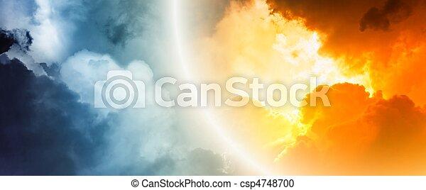Fantastic sunset - csp4748700