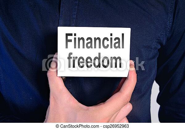 financial freedom man - csp26952963