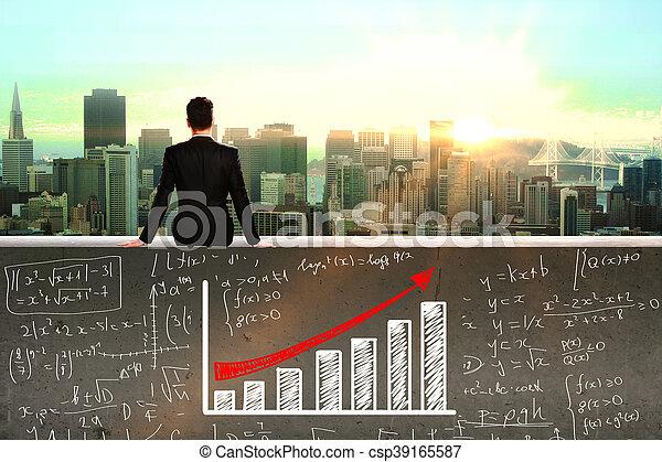 Financial growth concept - csp39165587