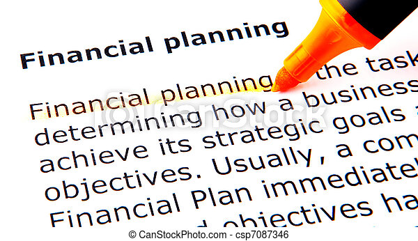 Financial Planning - csp7087346