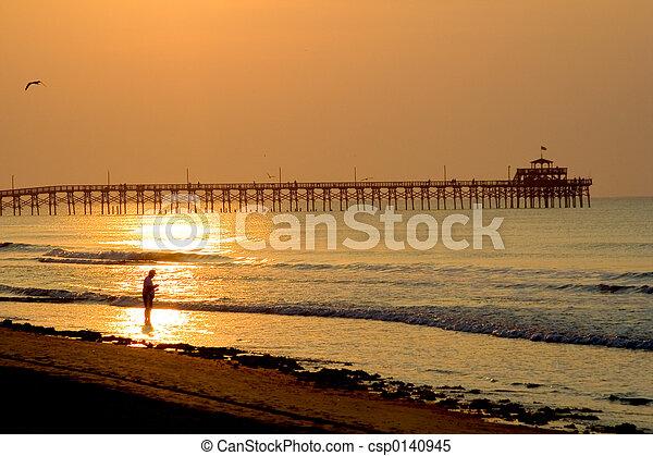 Fishing at the pier - csp0140945