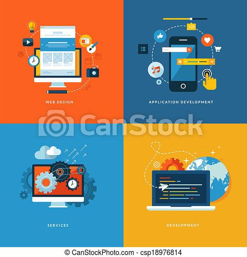 Flet icons for web development - csp18976814