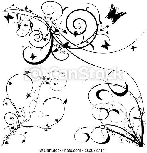Floral elements C - csp0727141