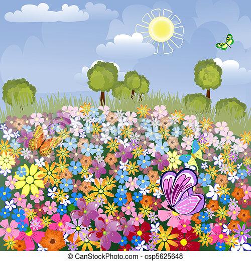 Flower airfield - csp5625648