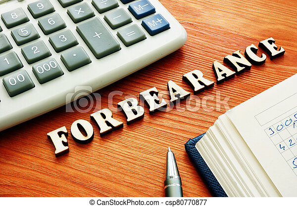 Forbearance word from wooden letters. - csp80770877