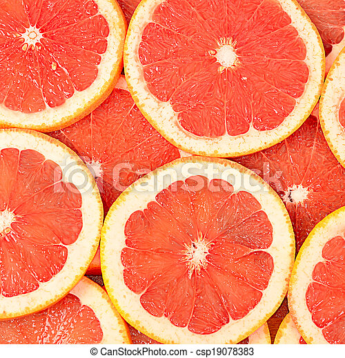 Fresh grapefruit as a background - csp19078383
