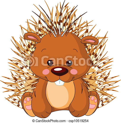 Fun zoo. Porcupine - csp10519254
