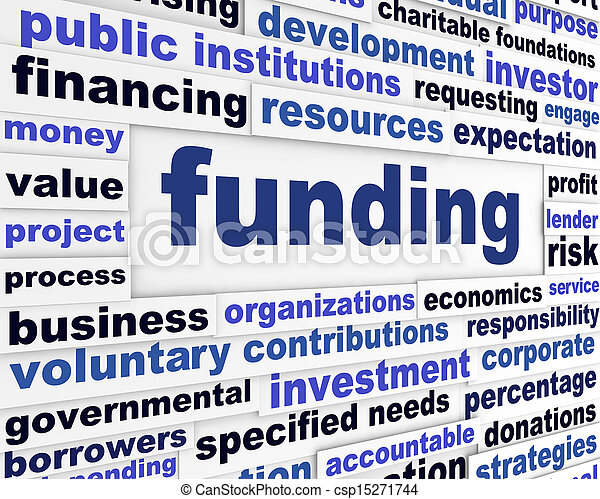 Funding business words message - csp15271744