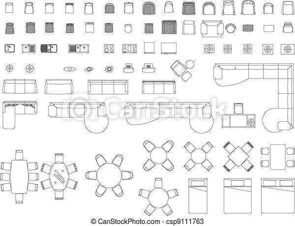 Furniture blocks - csp9111763