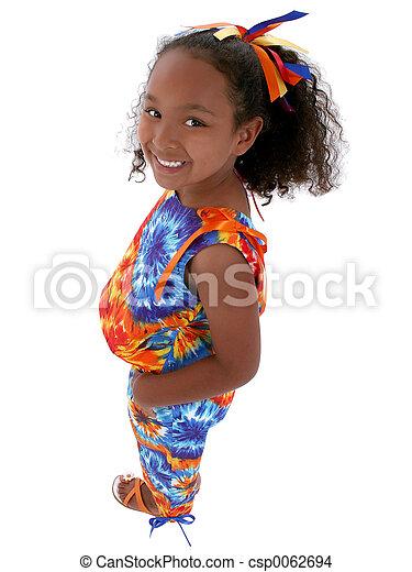 Girl Child Standing - csp0062694