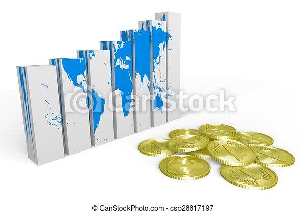 Global business chart - csp28817197