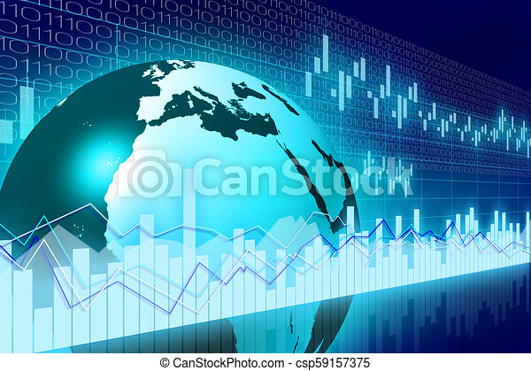 Global business chart - csp59157375