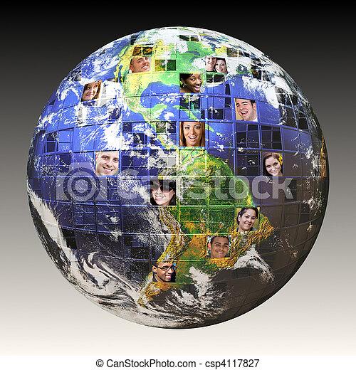 Global Network of People - csp4117827