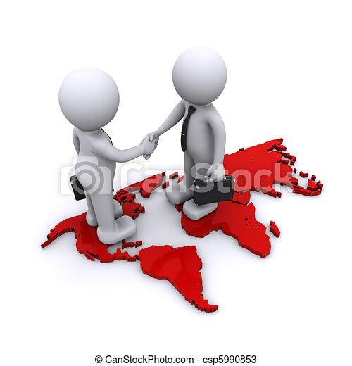 global partnership concept - csp5990853