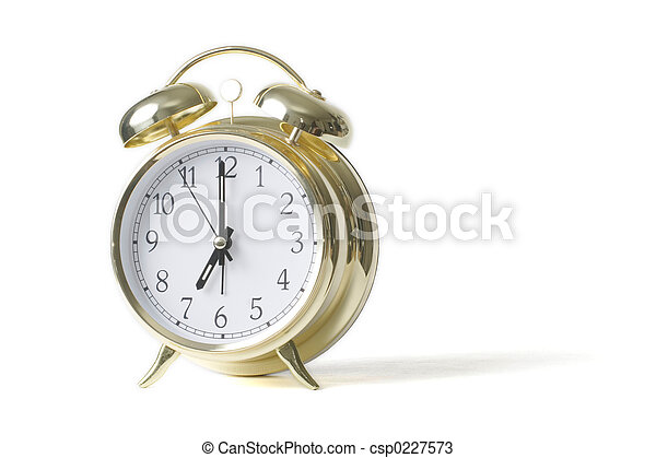 Gold alarm clock - csp0227573