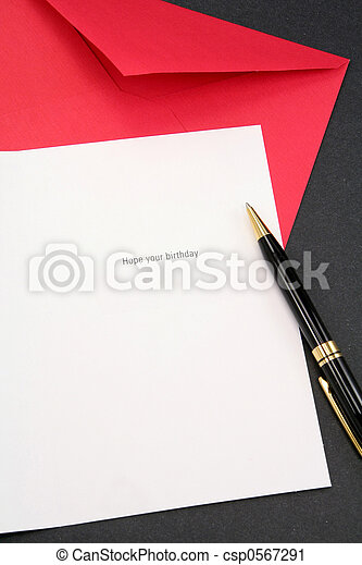 greeting card and red envelope - csp0567291