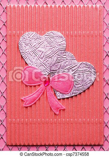 Handmade Valentine card - csp7374558