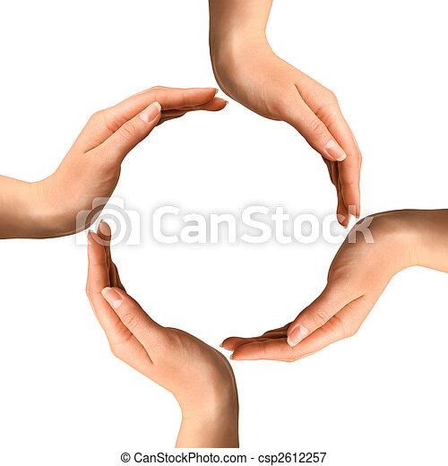 Hands Making a Circle - csp2612257
