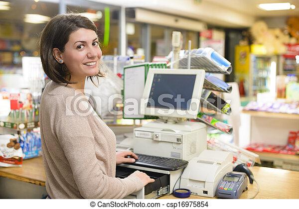 Happy Cashier - csp16975854