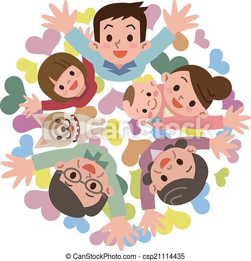 Happy family - csp21114435