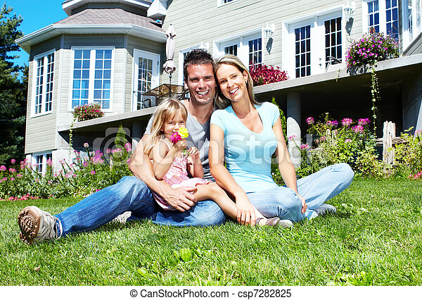 Happy family. - csp7282825