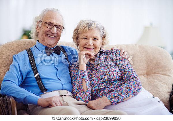 Happy grandparents - csp23899830