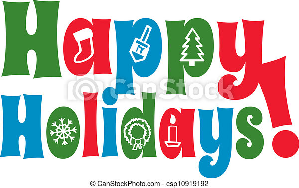 Happy Holidays with Icons - csp10919192