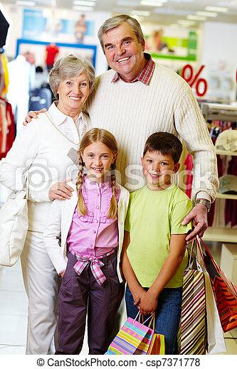 Happy shoppers - csp7371778