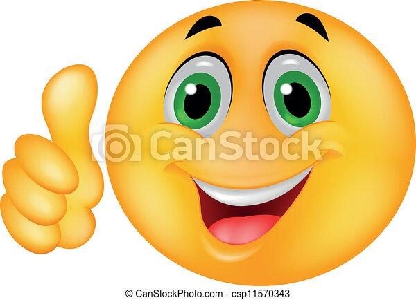 Happy Smiley Emoticon Face - csp11570343