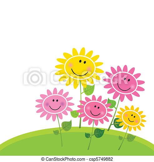 Happy Spring Flower Garden - csp5749882
