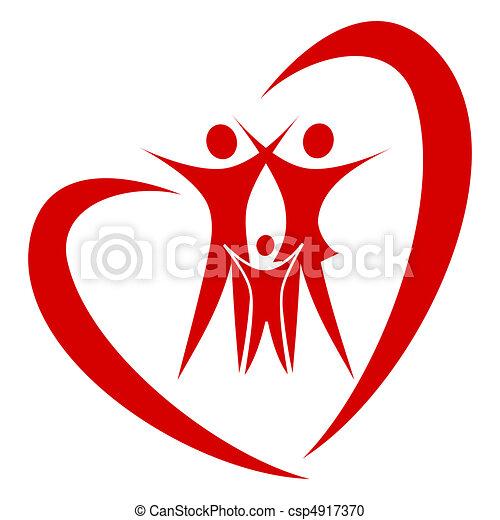 Heart family vector - csp4917370
