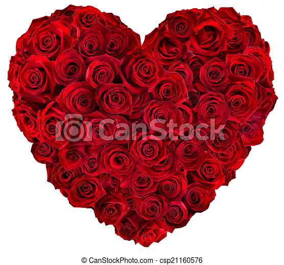 Heart of red roses - csp21160576