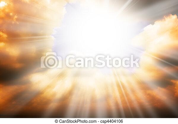 Heaven religion concept - sun rays and sky - csp4404106