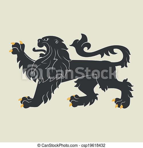 Heraldic lion - csp19618432