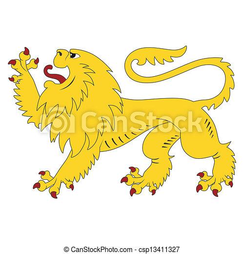 heraldic lion - csp13411327
