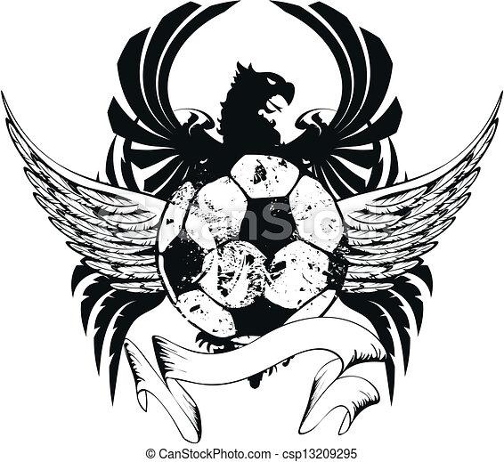 heraldic soccer coat of arms crest3 - csp13209295