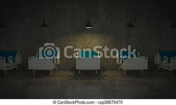 hospital bed in a room - csp38670470