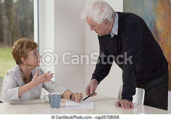 Husband wants to get the divorce - csp25708058
