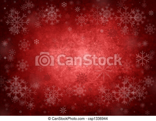 Ice red christmas background - csp1336944