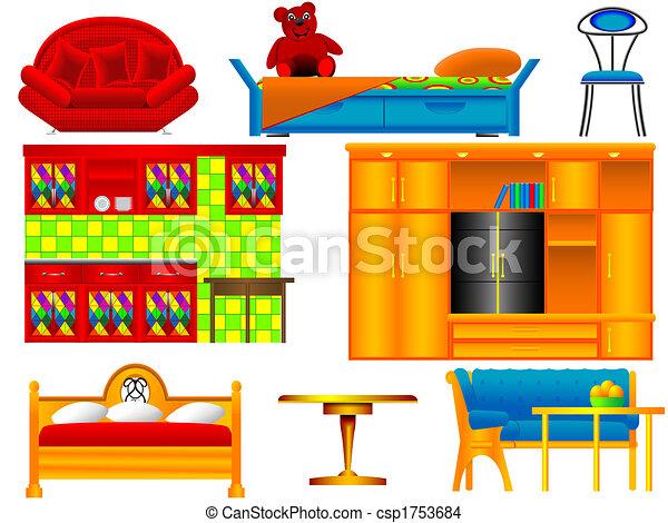 Icons of furniture - csp1753684